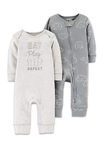 Boys Infant 2-Pack Jumpsuits