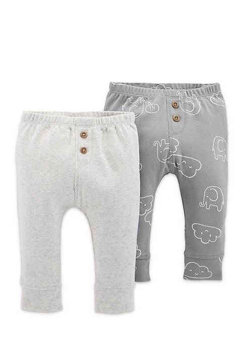 Carter's® Boys Infant 2-Pack Pull-On Pants