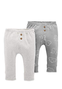 Boys Infant 2-Pack Pull-On Pants