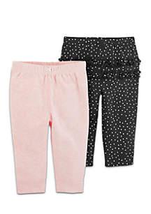 Girls Infant 2-Pack Pull-On Pants