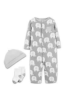 Boys Newborn Baby Soft Elephant Jumpsuit