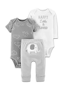 Boys Infant N5 Happy Loved Three-Piece Set