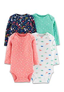 Baby Girls 4-Pack Long-Sleeve Original Bodysuits