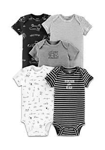 Boys Infant 5-Pack Construction Original Bodysuits