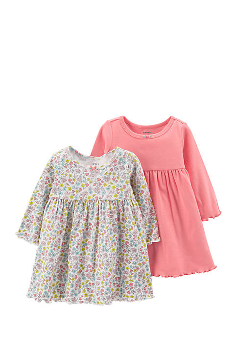 Carter's® Girls Infant 2-Pack Long-Sleeve Dress Set