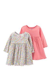 Girls Infant 2-Pack Long-Sleeve Dress Set