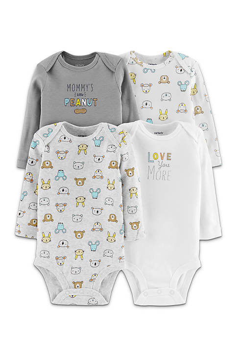 Carter's® Boys Infant 4-Pack Long-Sleeve Original Bodysuits