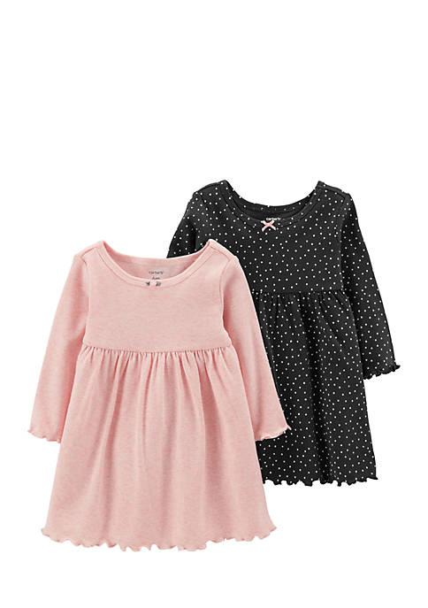 Carter's® Girls Infant 2-Pack Long-Sleeve Dress Set