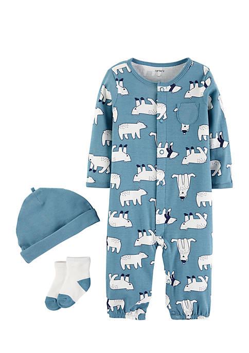 Carter's® Infant Boys Three-Piece Polar Bear Set