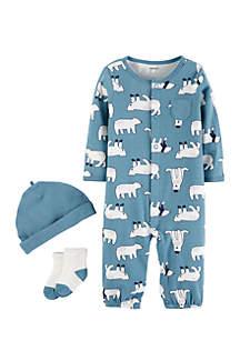 Infant Boys Three-Piece Polar Bear Set