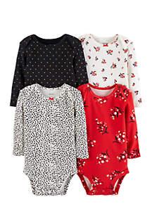 Infant Girls 4-Pack Original Bodysuits