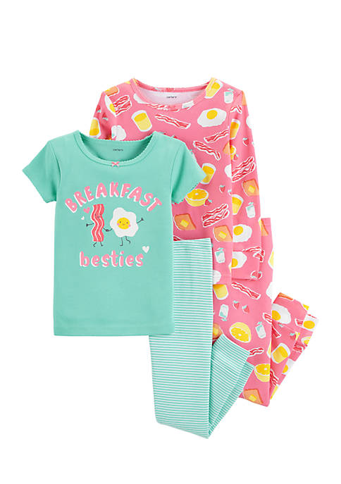 Carter's® Infant Girls Bacon Eggs Pajama Set