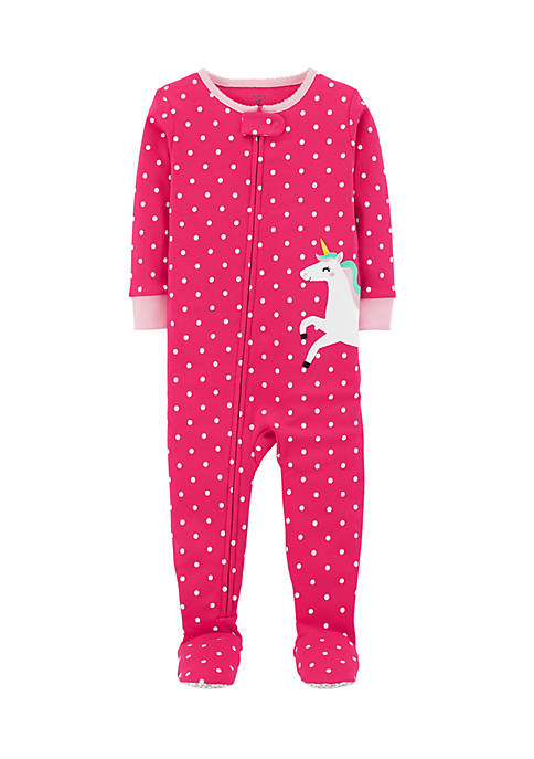 Carter's® Infant Girls Dot Unicorn One-Piece