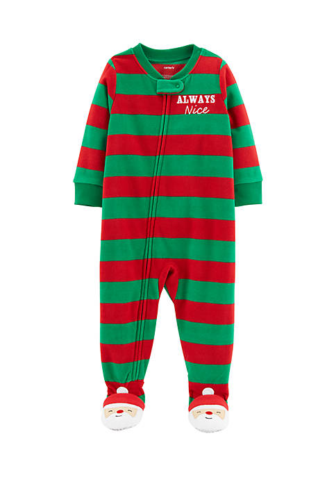 Carter's® Infant Boys 1-Piece Christmas Fleece PJs