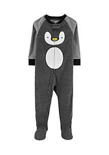 Baby Boys Penguin Fleece Pajamas