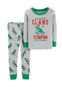 Infant Boys 2-Piece Christmas Snug Fit Cotton PJs