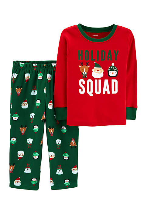 Carter's® Infant Boys Christmas Holiday Squad 2-Piece Pjs