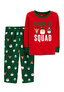 carters infant boys christmas holiday squad 2 piece pjs