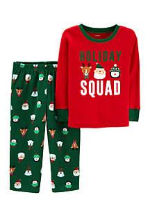 Infant Boys Christmas Holiday Squad 2-Piece Pjs