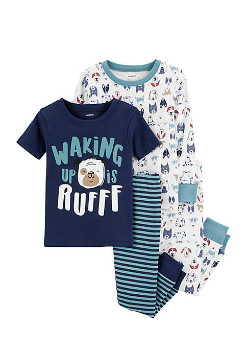 Carter's® Infant Boys 4-Piece Dogs Snug Fit Pajama