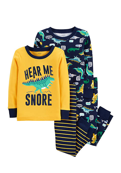 Carter's® Infant Boys 4-Piece Dinosaur Snug Fit Pajama