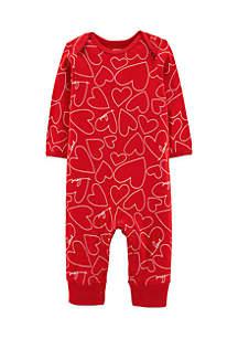Baby Girls Valentine's Day Heart Jumpsuit
