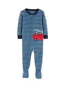 Carter's® Baby Boys Firetruck Snug Fit Footie Pajamas