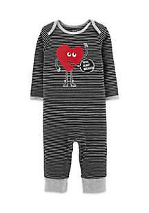 Baby Boys Valentine's Day Black Jumpsuit