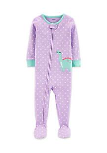 Baby Girls Dinosaur Snug Fit Cotton Footies