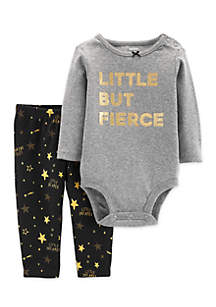 Baby Girls 2-Piece Fierce Bodysuit Pant Set
