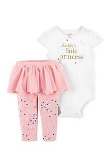 Baby Girls 2-Piece Bodysuit & Tutu Pant Set