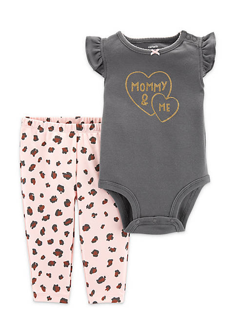 Carter's® Baby Girls 2-Piece Mommy & Me Bodysuit