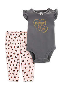 2b008321eb ... Carter s® Baby Girls 2-Piece Mommy   Me Bodysuit Pant Set