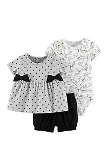 Baby Girls Unicorn Little Short Set
