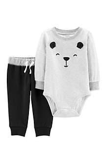 Baby Boys 2-Piece Bear Bodysuit Pant Set