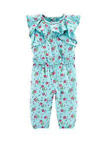 Baby Girls Floral Ruffle Jumpsuit