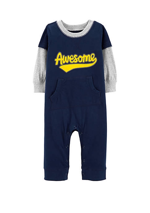 Baby Boys Awesome Layered-Look Jumpsuit