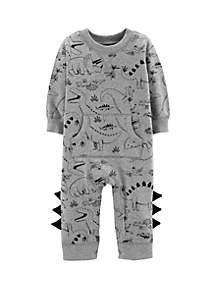 Baby Boys Dinosaur Cotton Jumpsuit