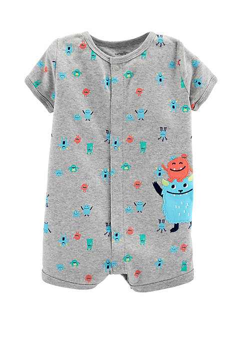 Baby Boys Monster Snap-Up Romper