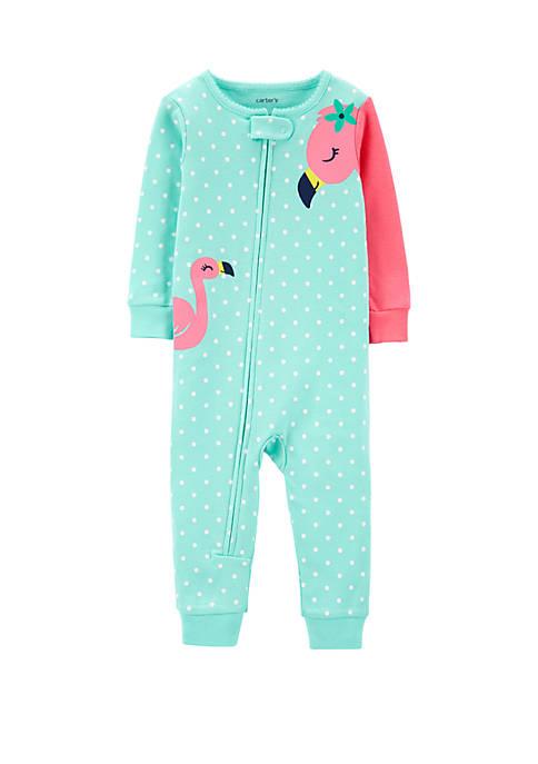 Carter's® Toddler GIrls Flamingo Snug Fit Cotton Footless