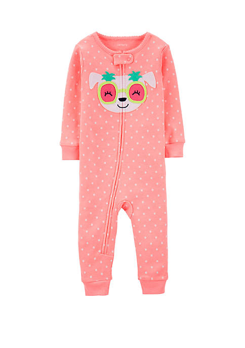 Carter's® Toddler Girls Neon Dog Snug Fit Cotton