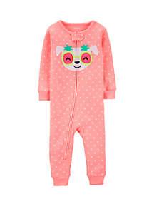 Carter's® Toddler Girls Neon Dog Snug Fit Cotton Footless Pajamas
