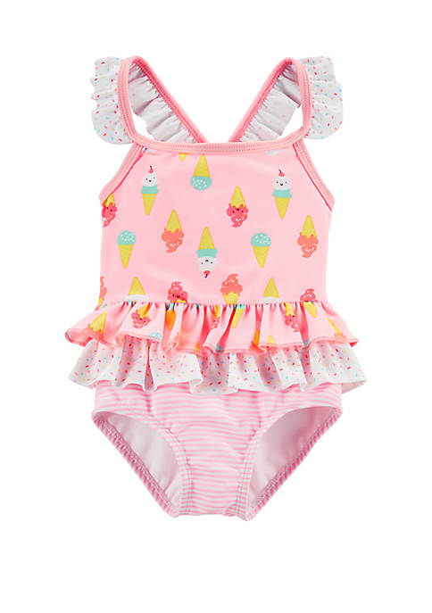 Carter's® Baby Girls Ice Cream 1-Piece Swimsuit