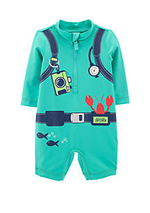 Baby Boys Fish Tools 1-Piece Swimsuit