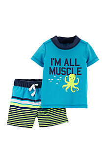 Carter's® Baby Boys All Muscle 2-Piece Swimsuit