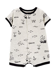Carter's® Baby Boys Crab Snap Up Romper