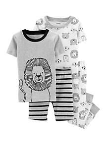 Carter's® Baby Boys 4-Piece Lion Snug Fit Cotton Pajama Set