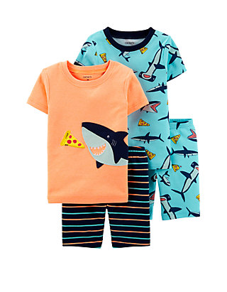 1b36aa1d82 Carter's® Baby Boys 4 Piece Neon Shark Snug Fit Cotton Pajama Set | belk
