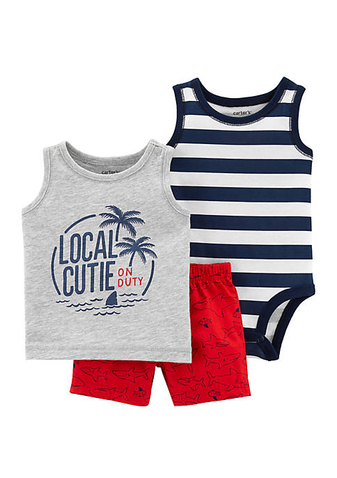 Carter's® Baby Boys 3-Piece Palm Trees Little Short