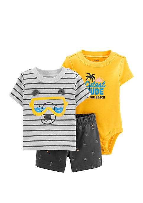 Carter's® Baby Boys 3 Piece Bear Little Short